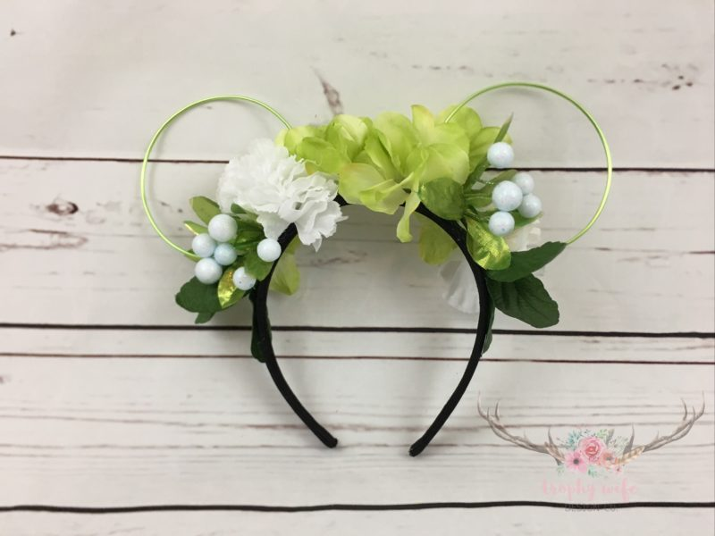 Tinker Bell inspired Disney ears for girls