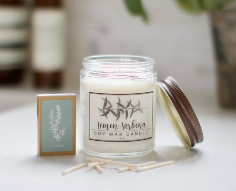Lemon Verbena Soy Candle from Little Flower Soap Company