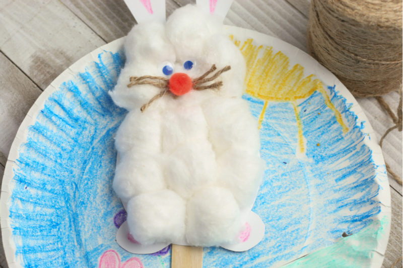 Hopping Bunny Paper Plate Spring Craft for Kids - Brave Little Mom - Blog for Moms