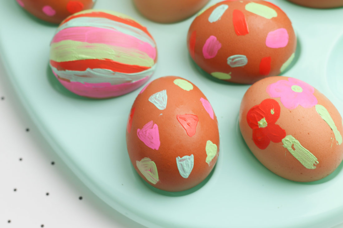 Painted eggs spring craft for kids easter craft for preschoolers brave little mom blog